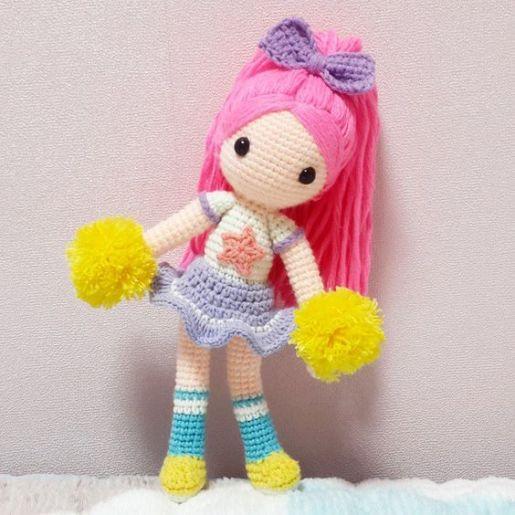 Amigurumi Crochê - Boneca de Pano Brisa - 100% algodão | Bonecas ... | 515x515